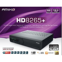 Decoder amiko mini combo 8265 + full hd 1080 t2/c S2 hdmi cccam iptv