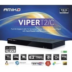Decoder digitale terrestre Amiko Viper T2/C comp. Scheda DTT cccam iptv