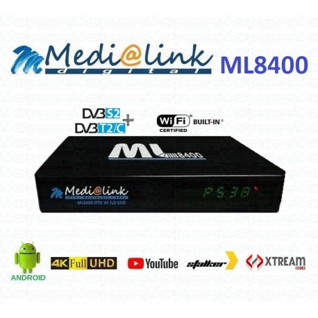 Decoder Medialink ML 8400  Combo SAT/T2 box Android+ linux
