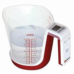 Bilancia da cucina digitale pesa liquidi 3kg 1 lt a brocca Modello pitagora