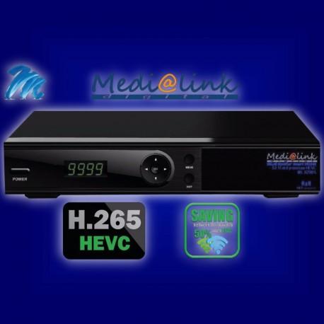 Decoder Medialink  ML 6500 HEVC 265 IPTV ricevitore Full HD Combo