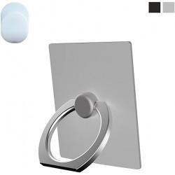 Anello porta cellulare con adesivo auto ruotante Bianco