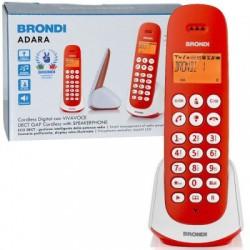Telefono cordless Fisso Brondi Adra vari colori