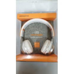 Cuffia Auricolare Hang star extra Bass per stereo e  Smartphone Arancio