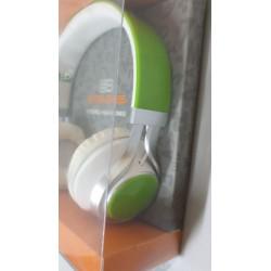Cuffia Auricolare Hang star extra Bass per stereo e  Smartphone Verde