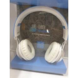 Cuffia Auricolare Hang star extra Bass per stereo e  Smartphone Azzurra
