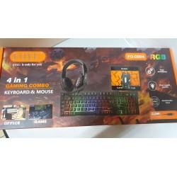Kit Games Tastiera Mouse Cuffie con microfono tappetino 4 in 1