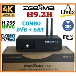 Decoder Zgemma H9.2H COMBO DVB + SAT 4K WI-FI H.264-H.265 10BIT