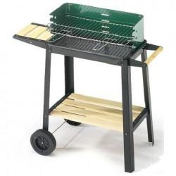 Brace barbecue a carbone con ruote da giardino 50x25x77 ompagrill 50311
