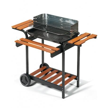 Barbecue in acciaio verniciato con carrello ompagrill 70409