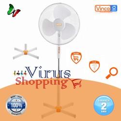 Ventilatore a Piantana 45w 3 pale da 40cm altezza 1,45 oscillante e regolabile Vinco 70703