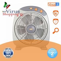 Ventilatore BOX da tavolo 40w 5 pale da 30cm con timer vinco 70800