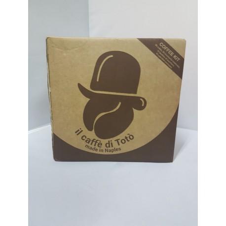 Pacco 50 cialde Caffe di Toto con kit zucchero bicchieri e palettine