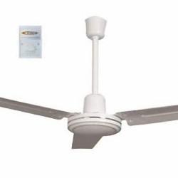 Ventilatore da soffitto 55w bianco 3 pale da 1400mm no luce selettore partete Vinco 70930